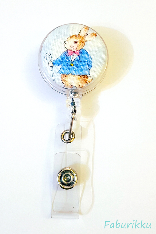 Animal Country Rabbit Clear Clip-On Badge Reel