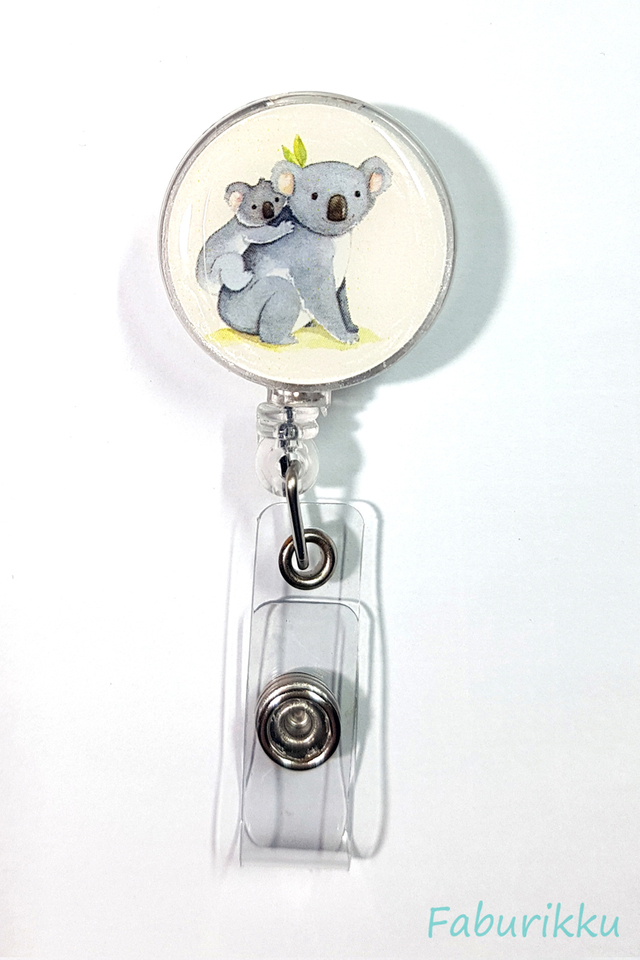Animal Koala Clip-On Badge Reel
