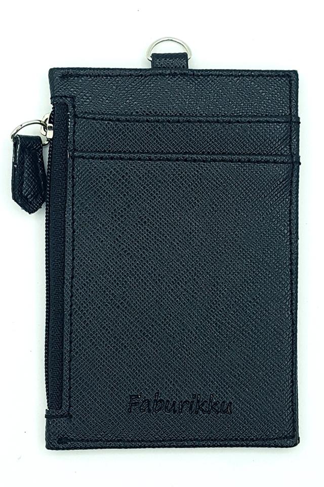 Black Zip Premium Cardholder Portrait