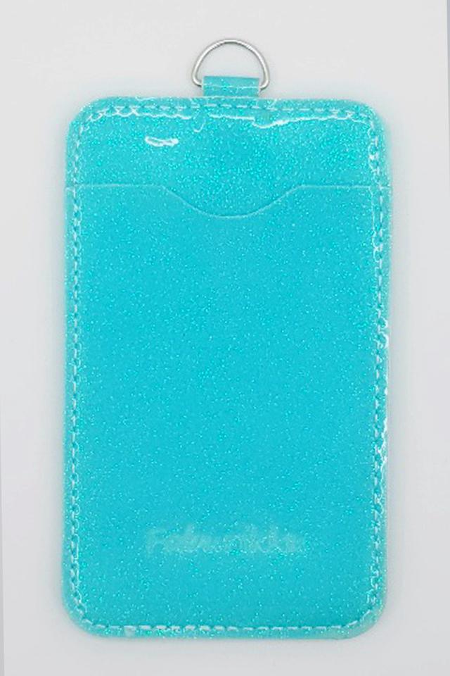 Blue Glitter Premium Card Portrait
