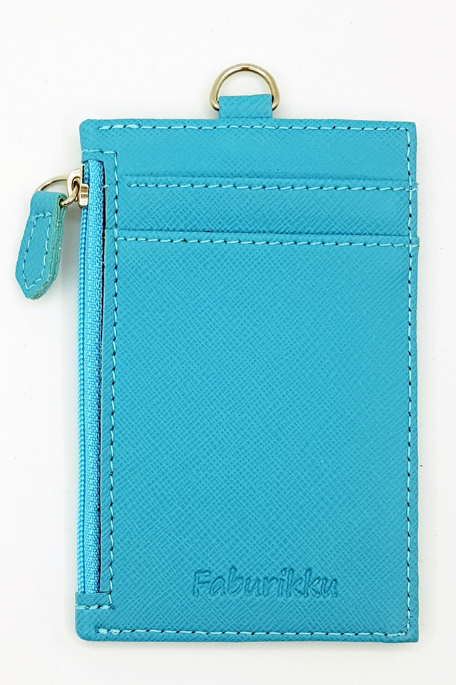 Blue Zip Premium Cardholder Portrait