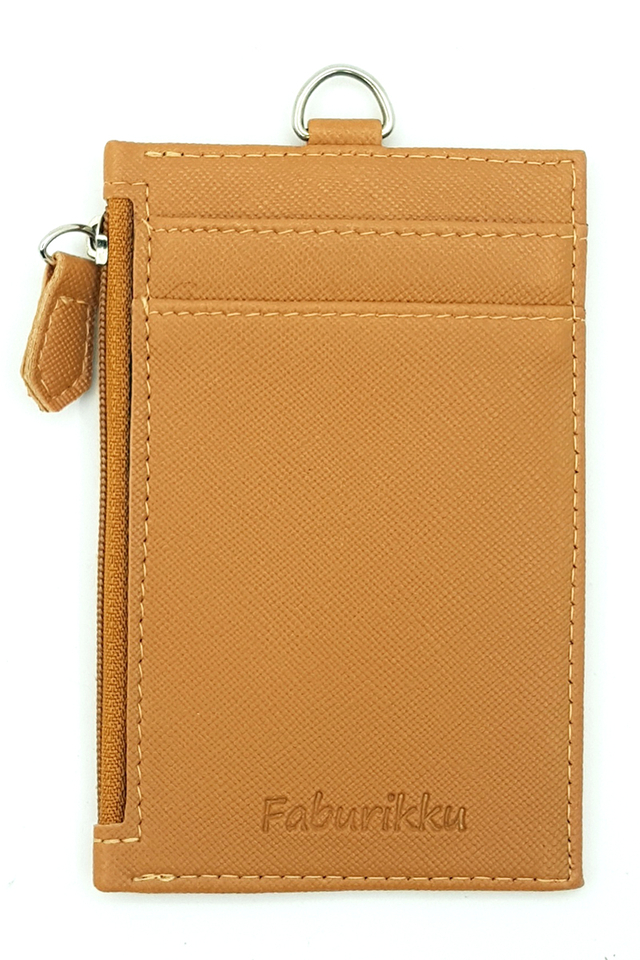 Brown Zip Premium Cardholder Portrait