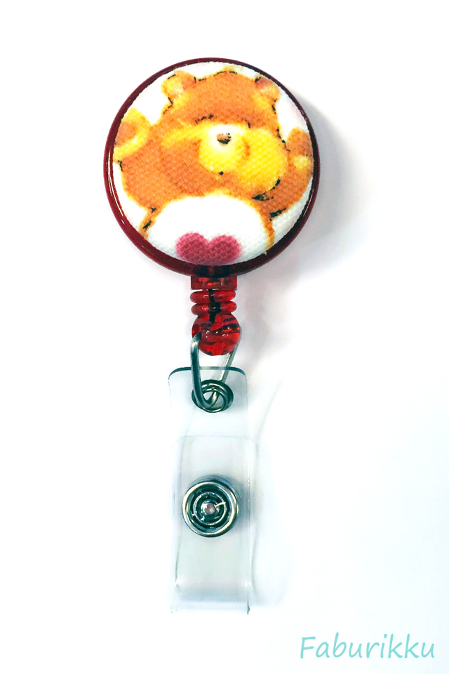 Carebears Red Clip-On Badge Reel