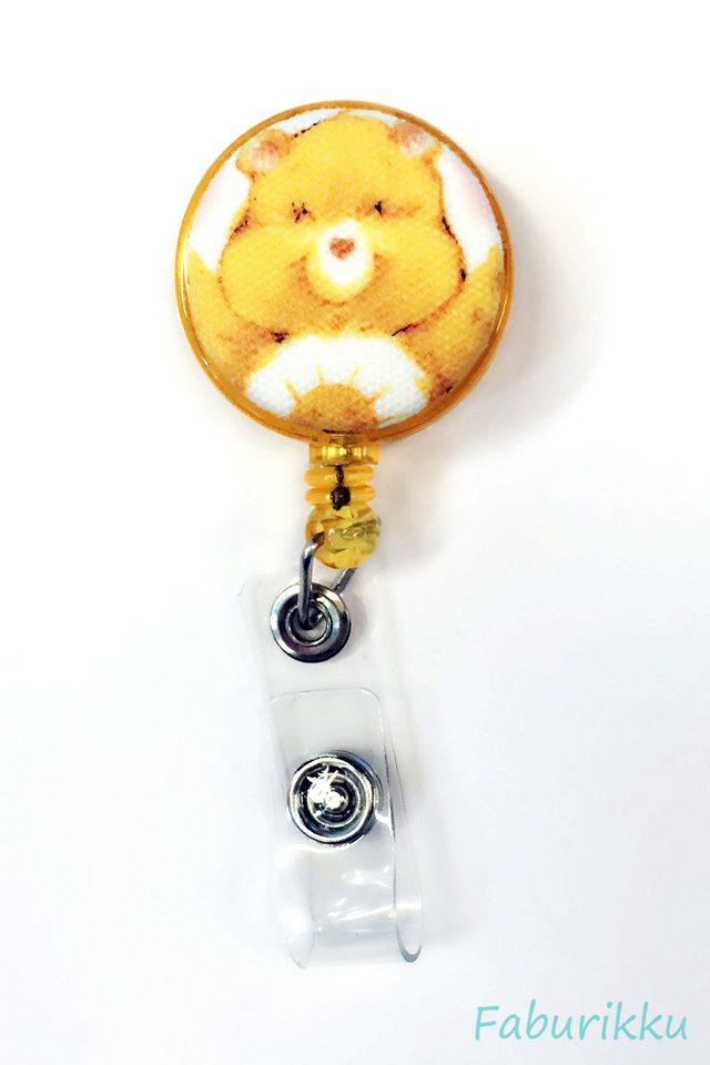 Carebears Yellow Clip-On Badge Reel