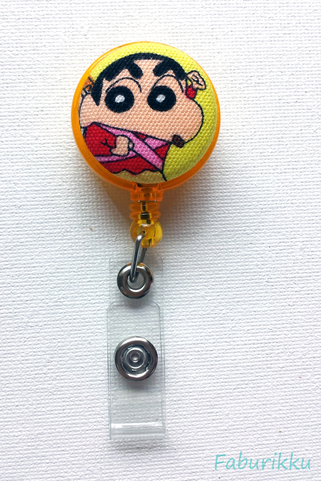 Crayon ShinChan Yellow Clip-On Badge Reel