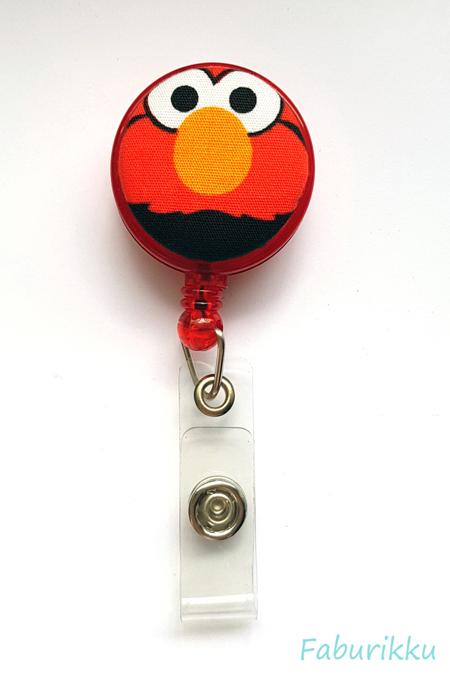 Elmo Red Openmouth Clip-On Badge Reel