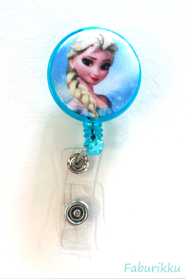 Frozen Elsa Turquoise Clip-On Badge Reel
