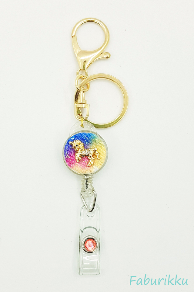 Galaxy Unicorn Multi Colour Hook On Badge Reel