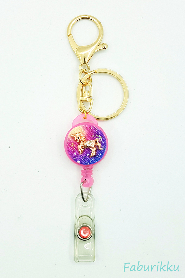 Galaxy Unicorn Pink Hook On BadgeReel