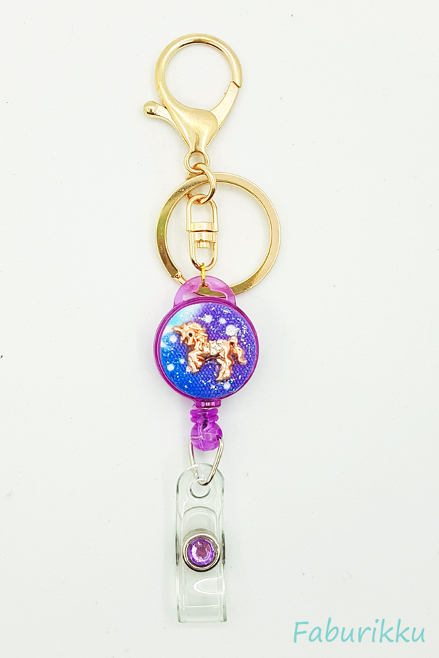 Galaxy Unicorn Purple Hook On BadgeReel