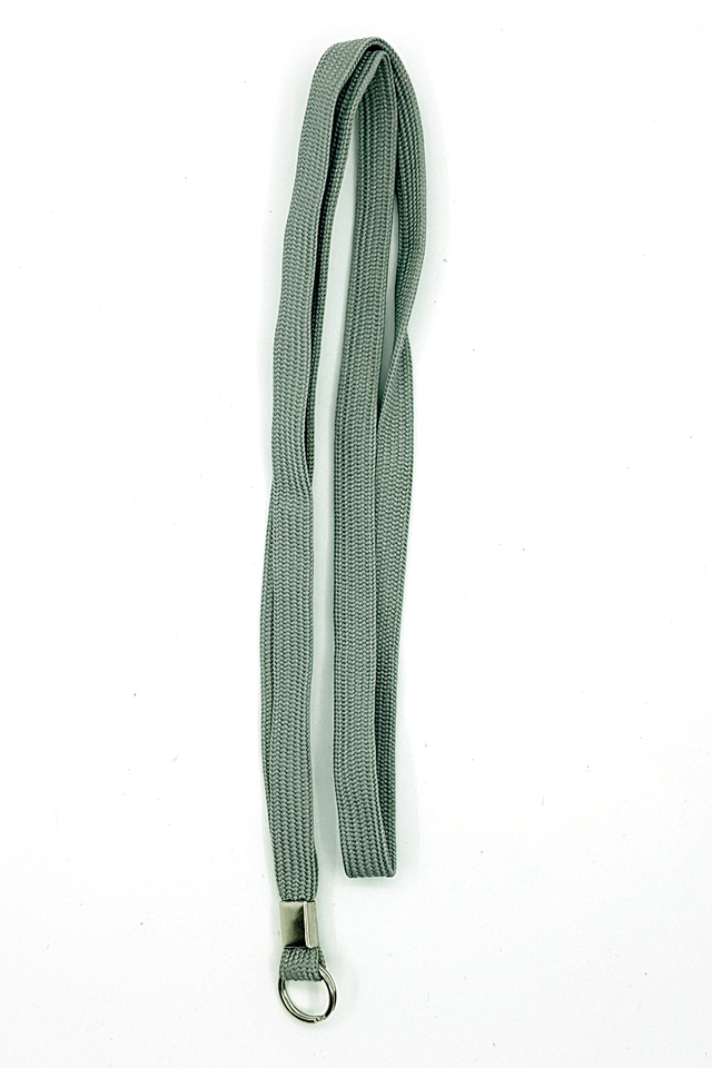 Grey Basic Lanyard