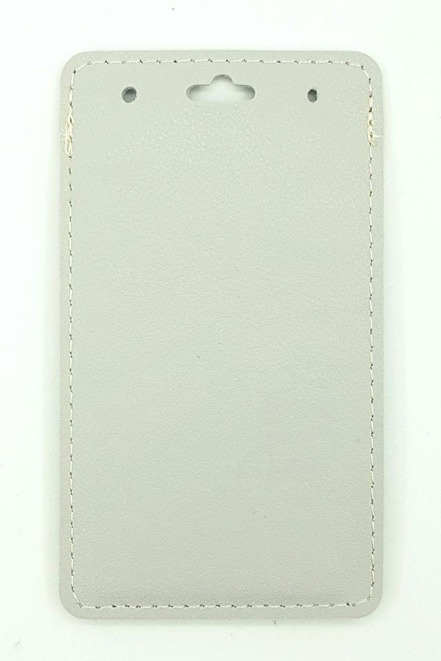 Grey Flip Pocket Deluxe Card Portrait