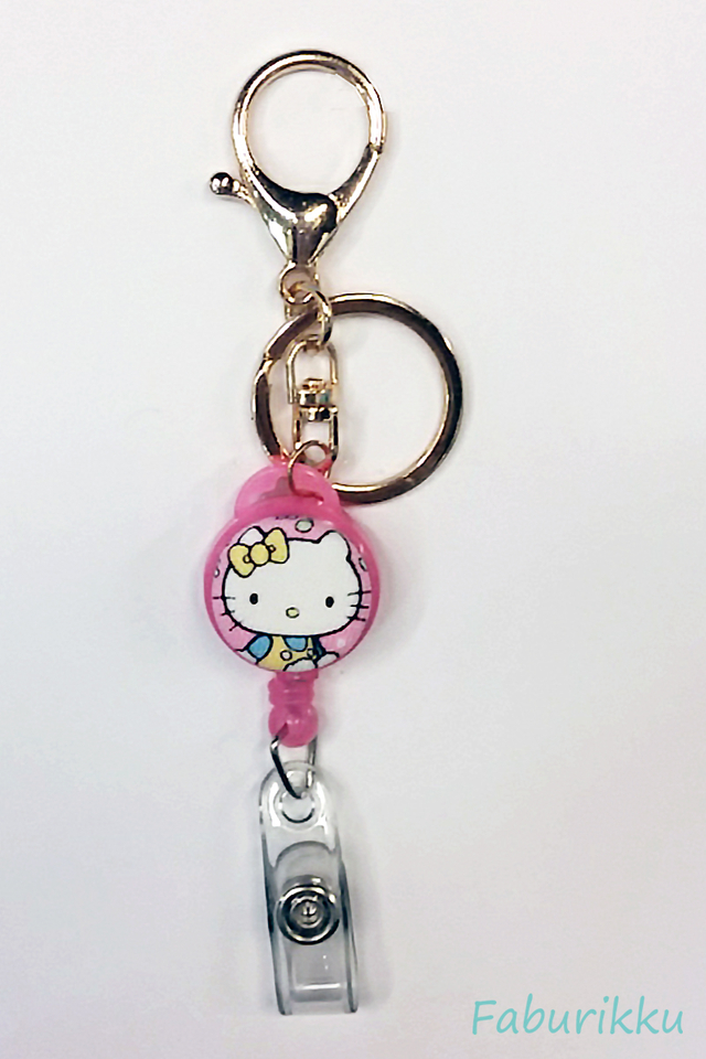 Hello Kitty PinkSit Hook-On Badge Reel