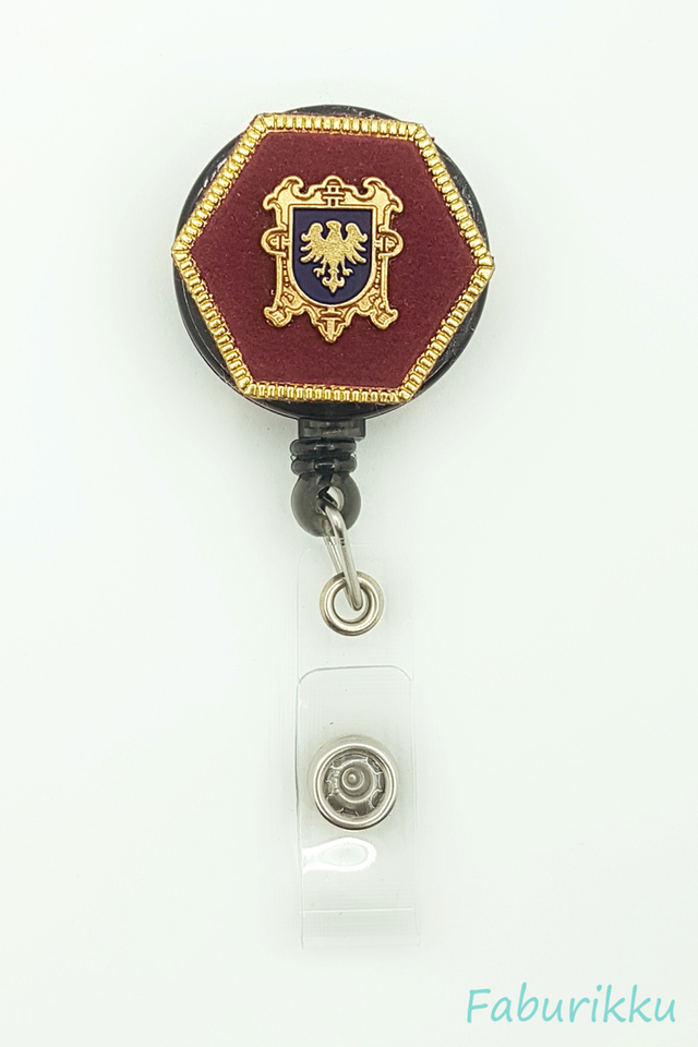Icon Hexagon Maroon Clip-On Badge Reel