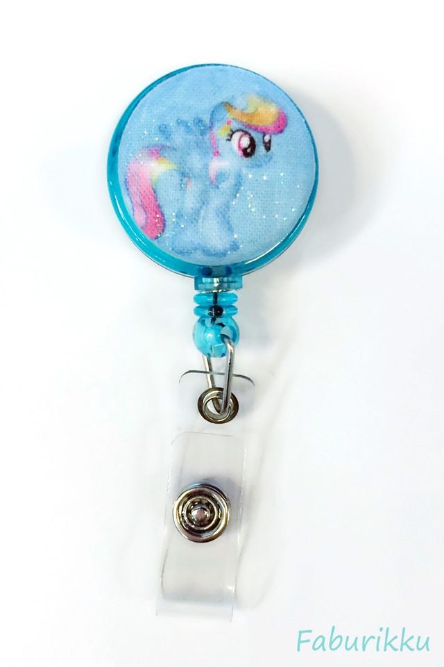 My Little Pony Turquoise Clip-On Badge Reel
