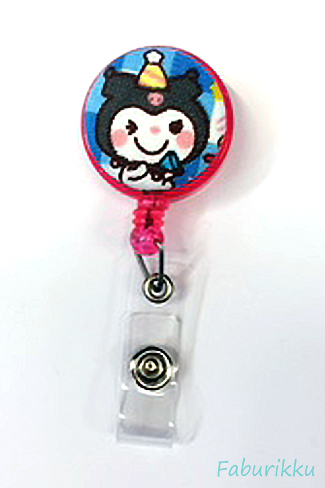 My Melody Kuromi Clip-On Badge Reel