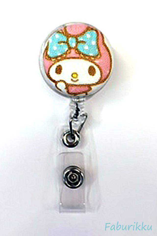 My Melody PastelHead Clip-On Badge Reel