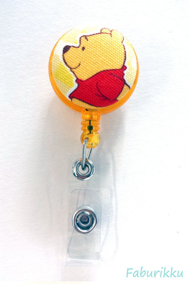 Pooh Yellow Side Clip-On Badge Reel
