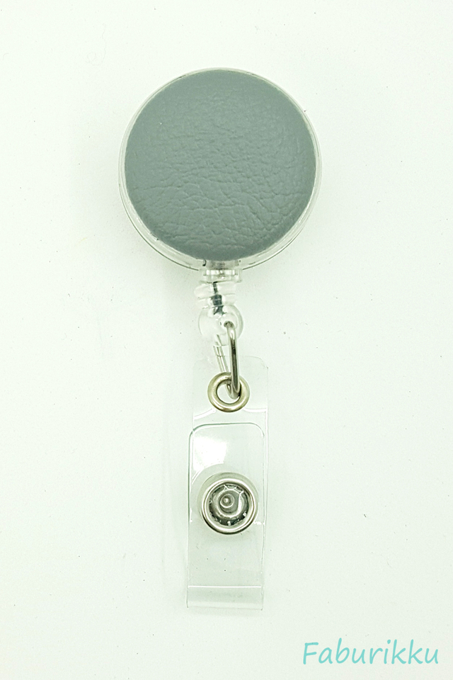 PU Leather Slate Clip-On Badge Reel