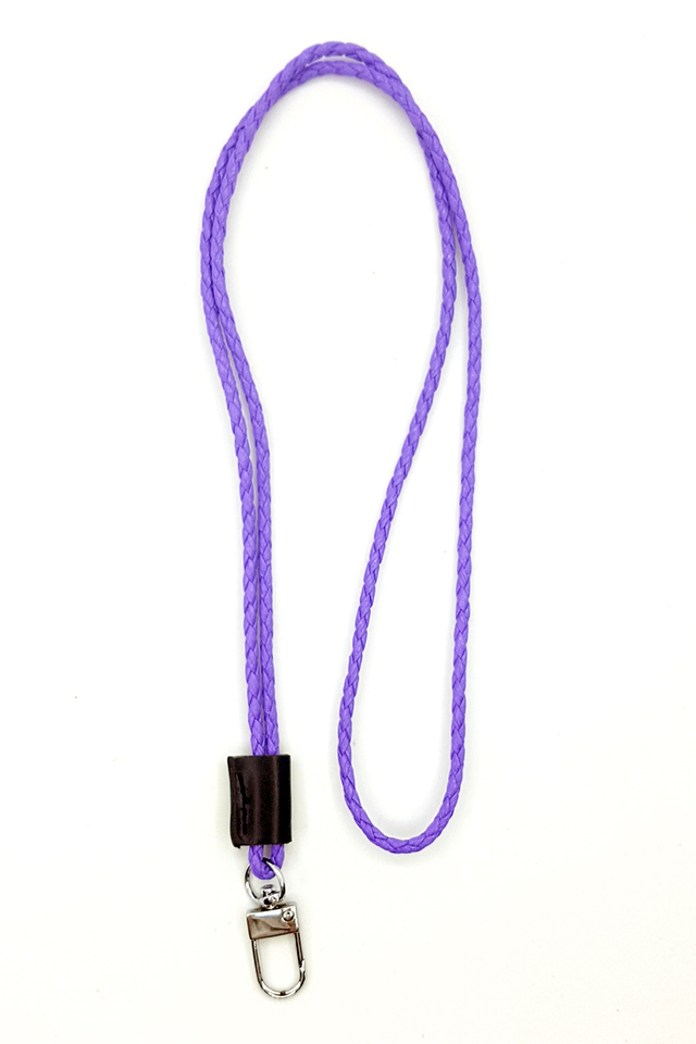Purple Tweed Deluxe Lanyard