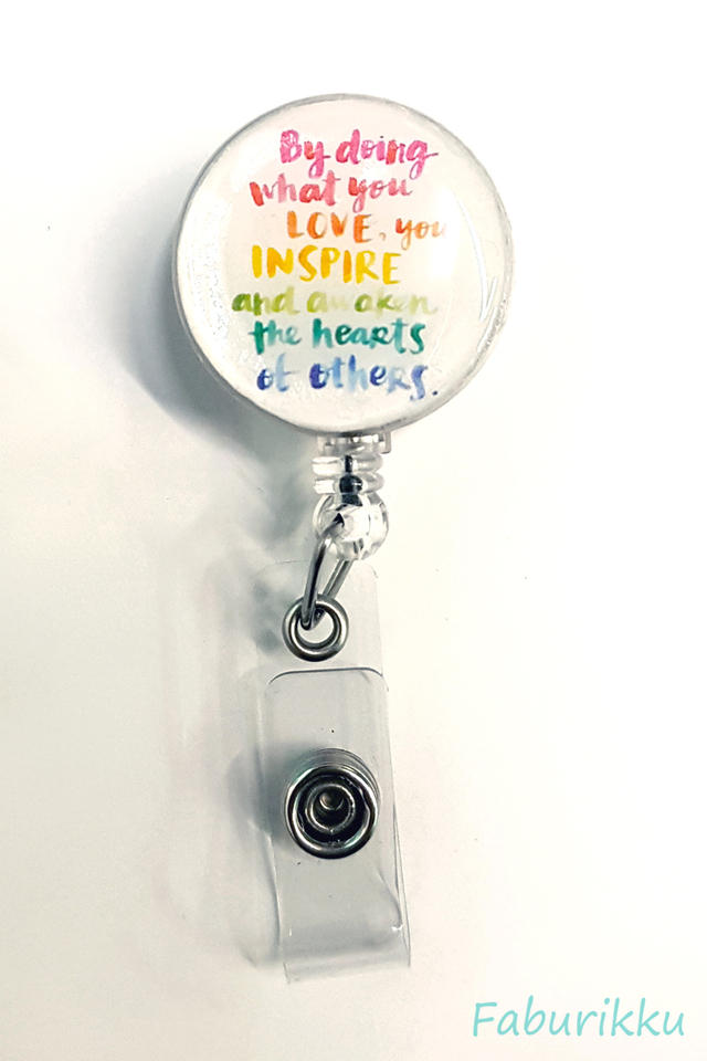 Quotes Teacher Pastel Clip-On Badge Reel