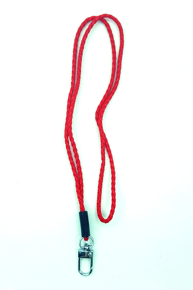 Red Tweed Deluxe Lanyard