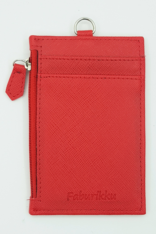 Red Zip Premium Cardholder Portrait