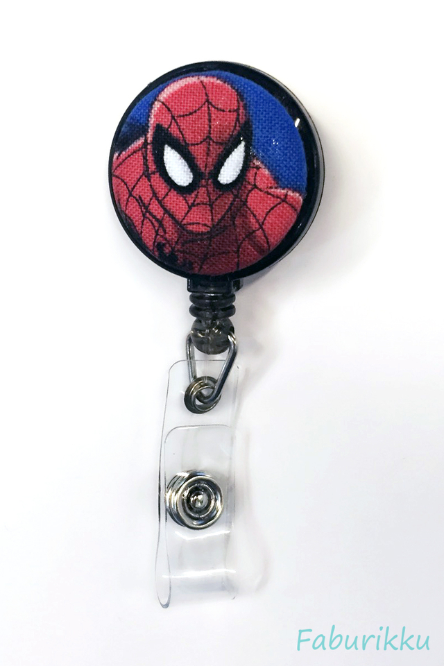 Spiderman [The Avengers] Black Clip-On Badge Reel