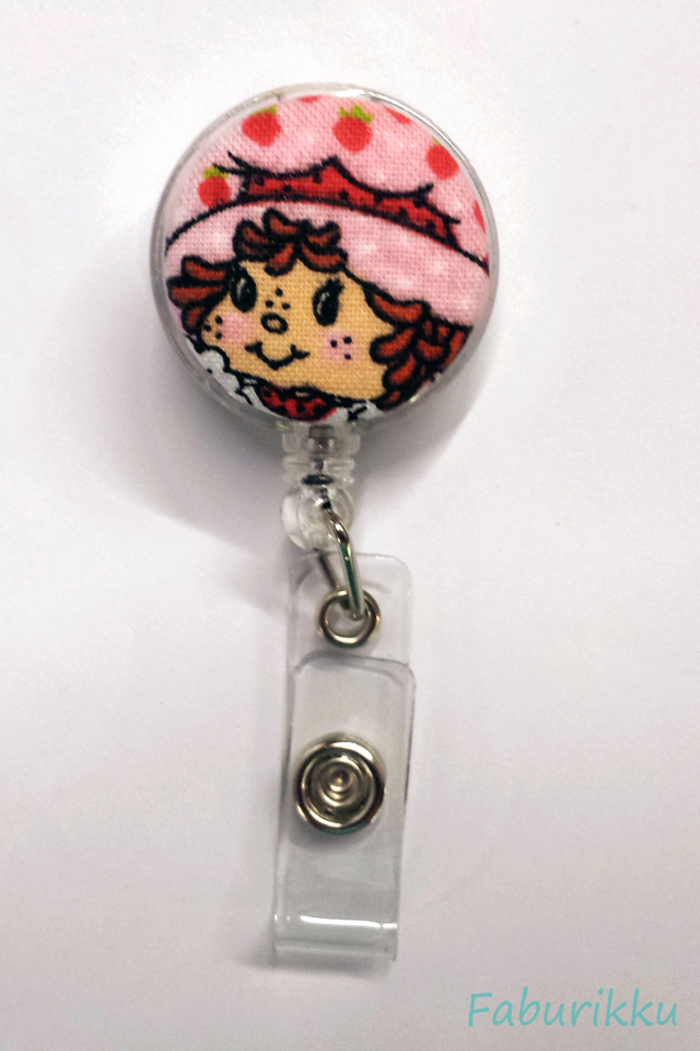 Strawberry Short Cake Clear Clip-On Badge Reel