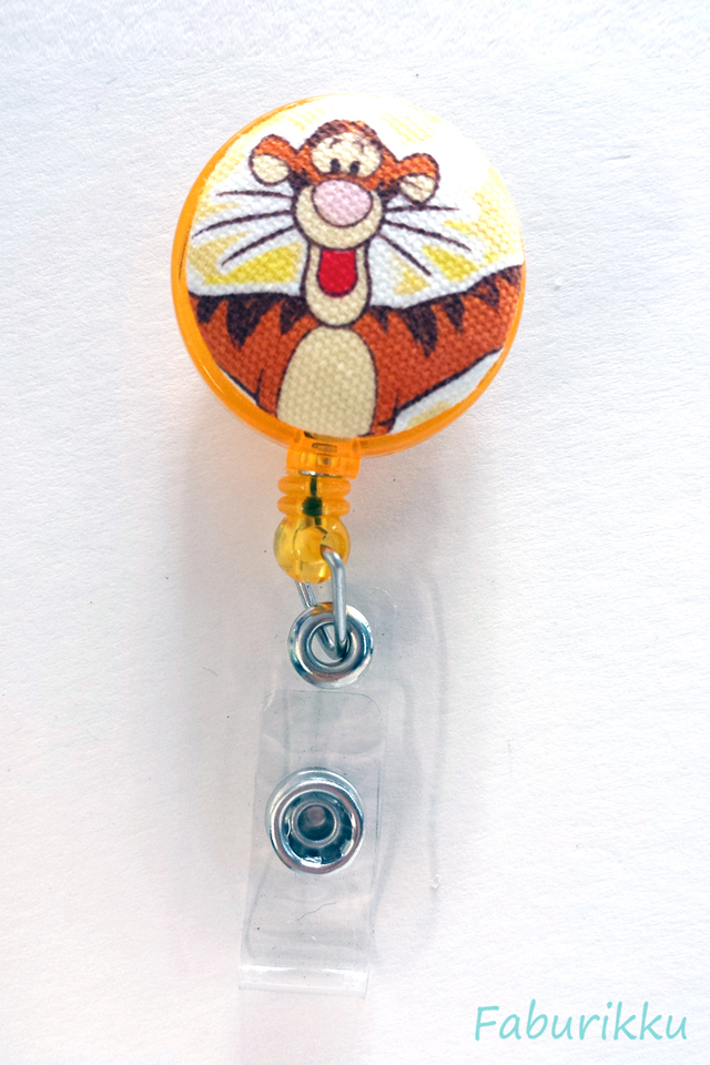 Tigger Yellow Hug Clip-On Badge Reel
