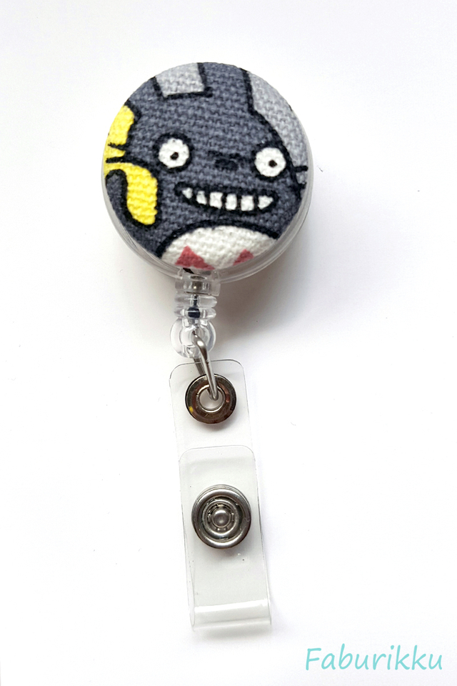Totoro Clear YellowSack Clip-On Badge Reel