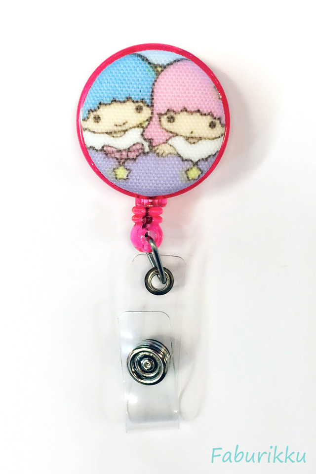 Twin Star Pink Star Clip-On Badge Reel