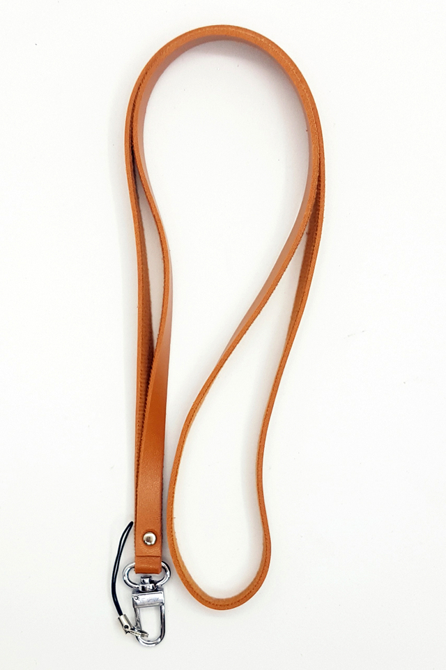 Brown Soft Deluxe Lanyard