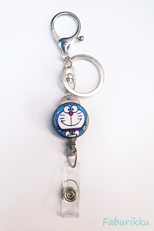 Doraemon FullBlack Hook-On Badge Reel