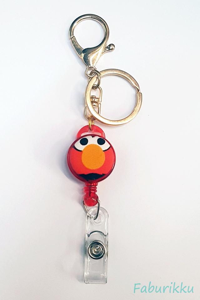 Elmo Red Hook-On Badge Reel