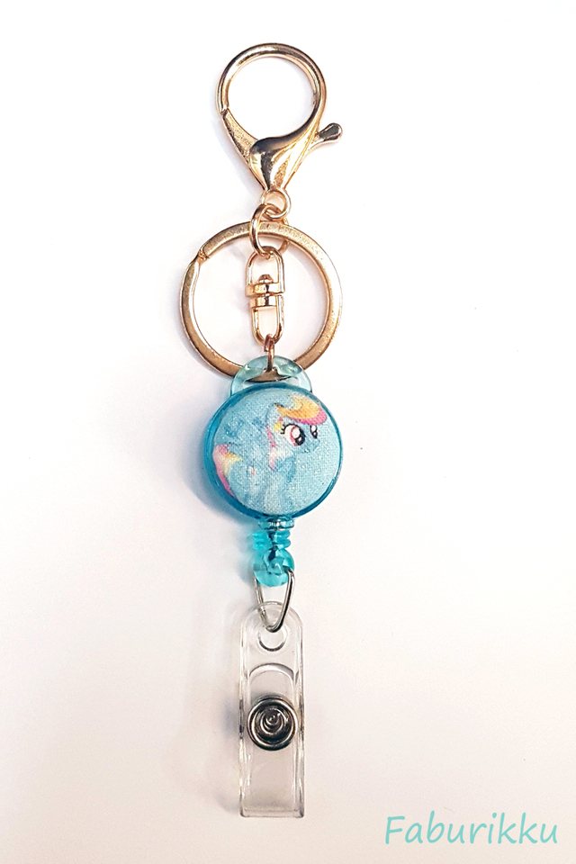 MyLittlePony Turquoise Hook-On Badge Reel