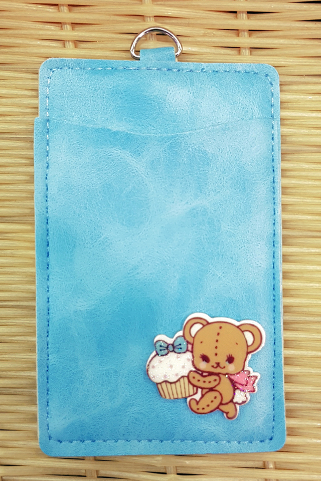 Skyblue Teddybear Premium Card Portrait