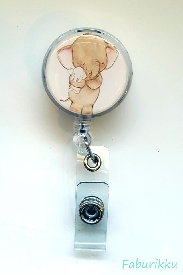 Animal Elephant Clip-On Badge Reel