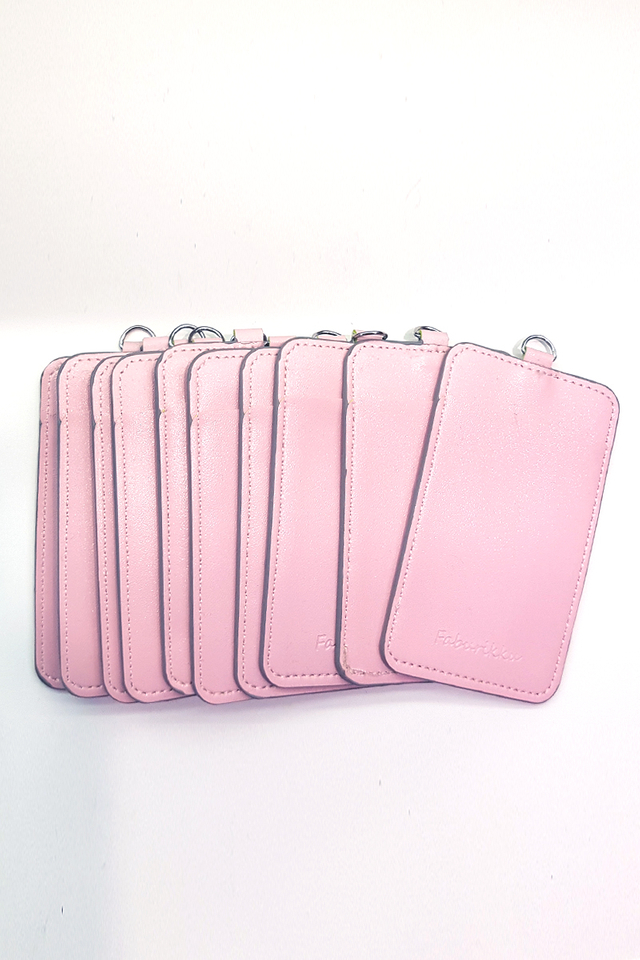 (Bulk Price) 10pcs Light Pink Slim PU Deluxe Card Portrait