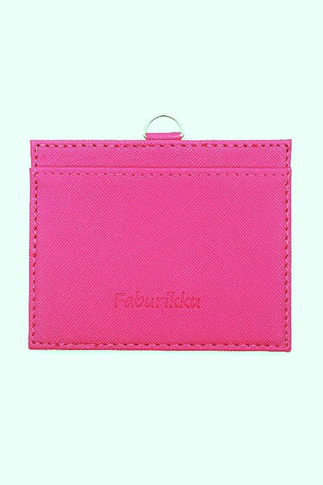 Dark Pink Hard PU Deluxe Card Landscape