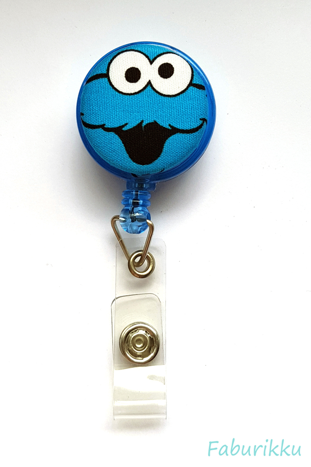 CookieMonster BlueOh Clip-On Badge Reel