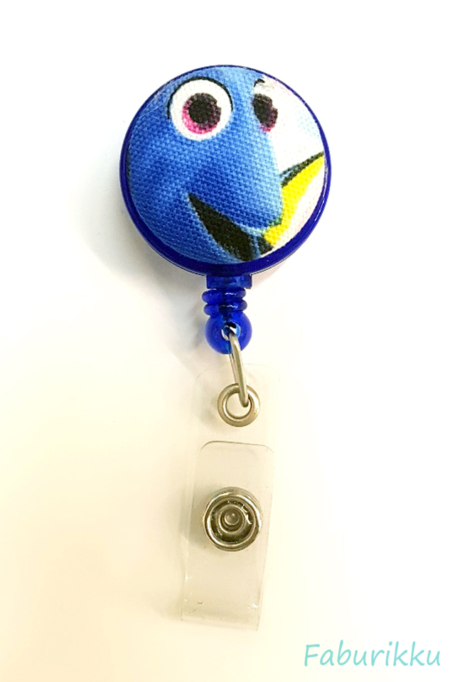 Dory Navy Clip-On Badge Reel