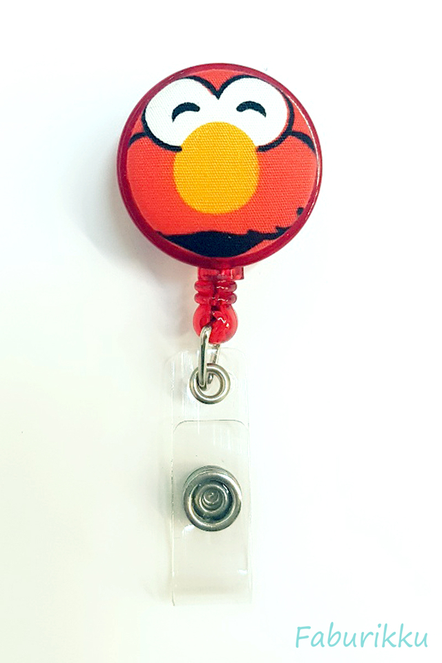 Elmo RedSmile Clip-On Badge Reel