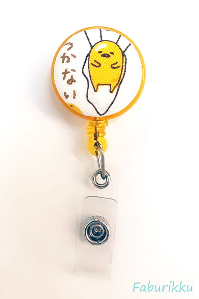Gudetama YellowParachute  Clip-On Badge Reel