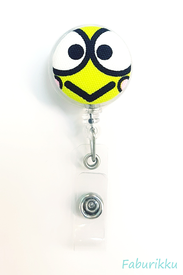 Keroppi Clear Clip-On Badge Reel