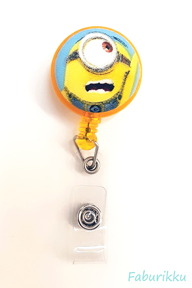 Minion Yellow Clip-On Badge Reel