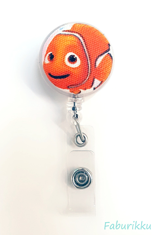Nemo Navy Clip-On Badge Reel