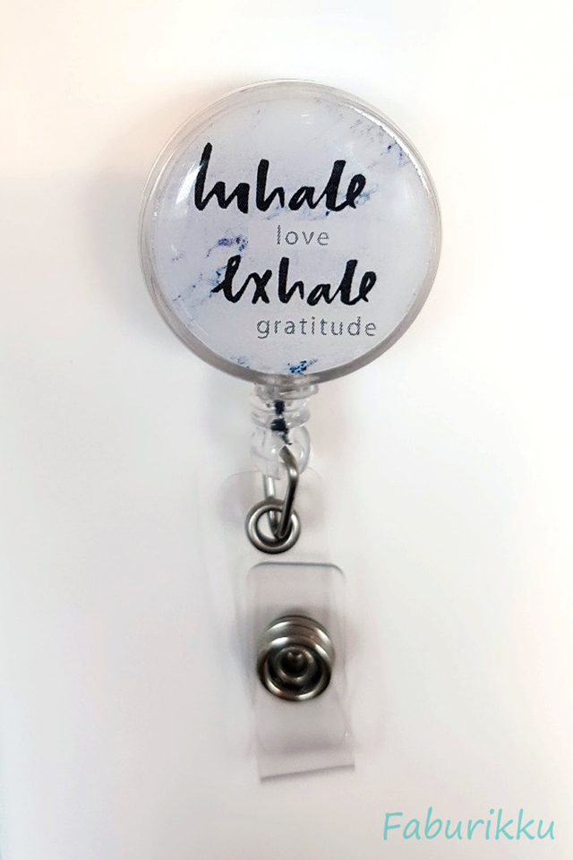 Quotes InhaleExhale Clip-On Badge Reel