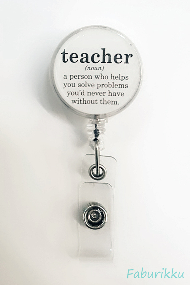 Quotes TeacherNoun Clip-On Badge Reel