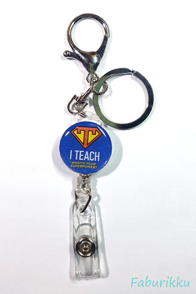 Quotes TeacherSuper Hook-On Badge Reel